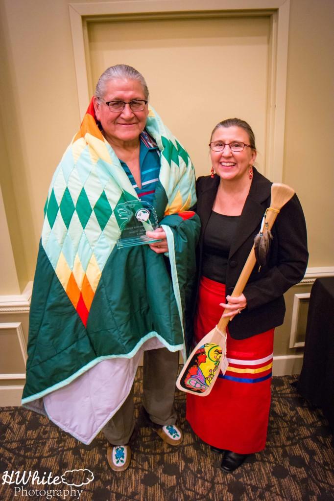 Wanbdi Wakita - receives Honouring  Our Elders Award